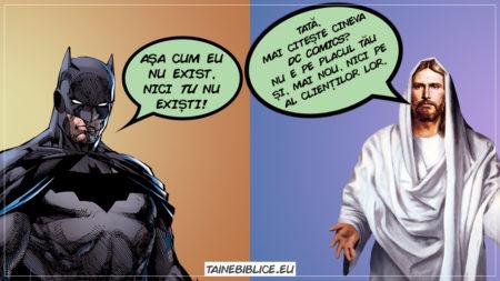 Dovezi! Dumnezeu poate fi dovedit cu Biblia, dar despre Batman nu putem zice că poate fi dovedit cu DC Comics.