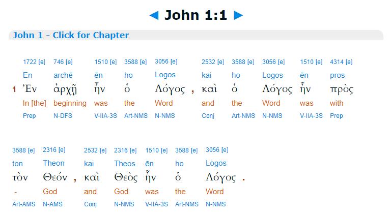 Ioan 1:1, plural la Dumnezeu, ca în Geneza.